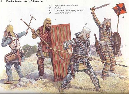 Персидская пехота Ксеркса