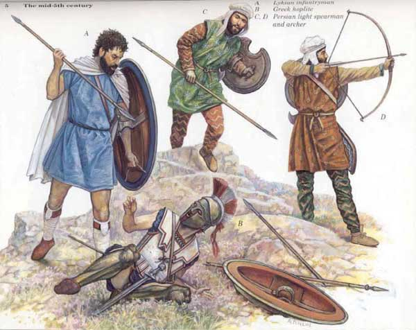 персидские воины