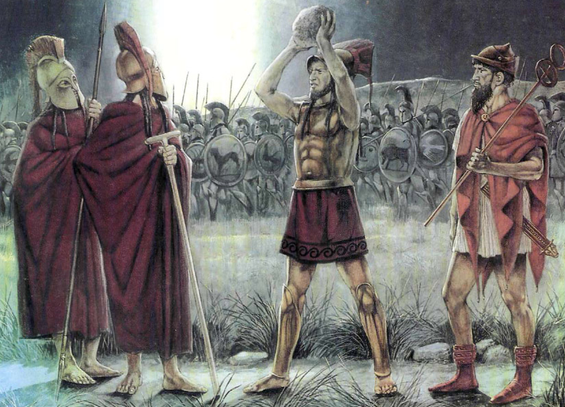 Амомфарет и Павсаний в битве при Платеях