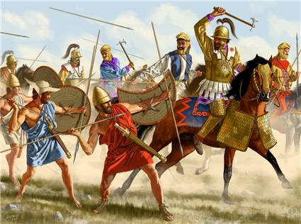 Битва при Кунаксе, военная история