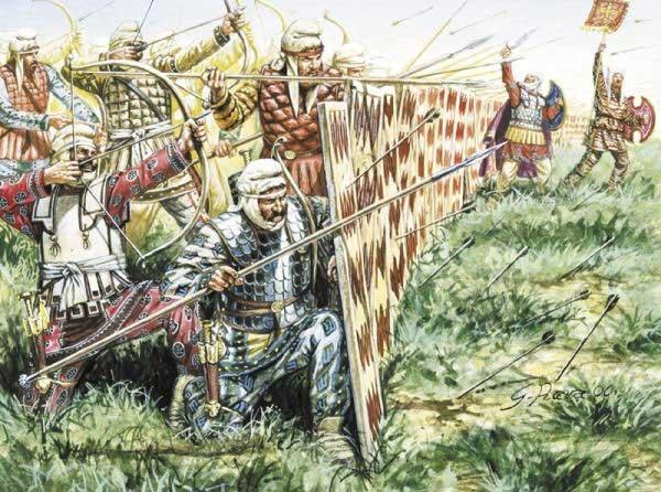Персидская спарабара в битве при Микале