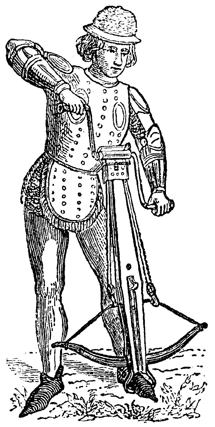 генуэзский арбалетчик в битве при Креси