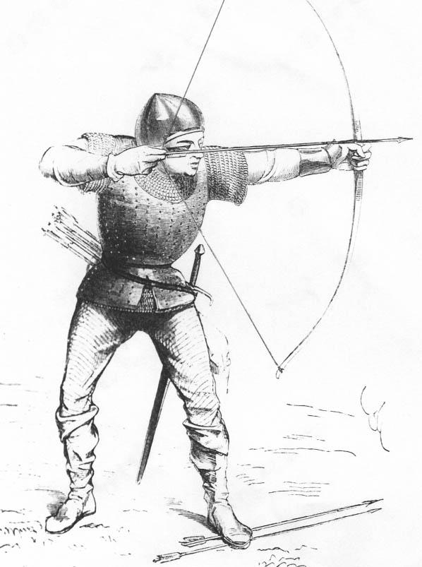 английский лучник в битве при Креси