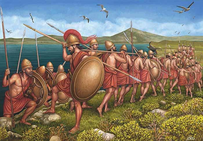 Спартанцы на острове Сфактерия