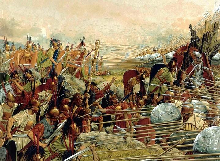 военная история, битва при Пидне