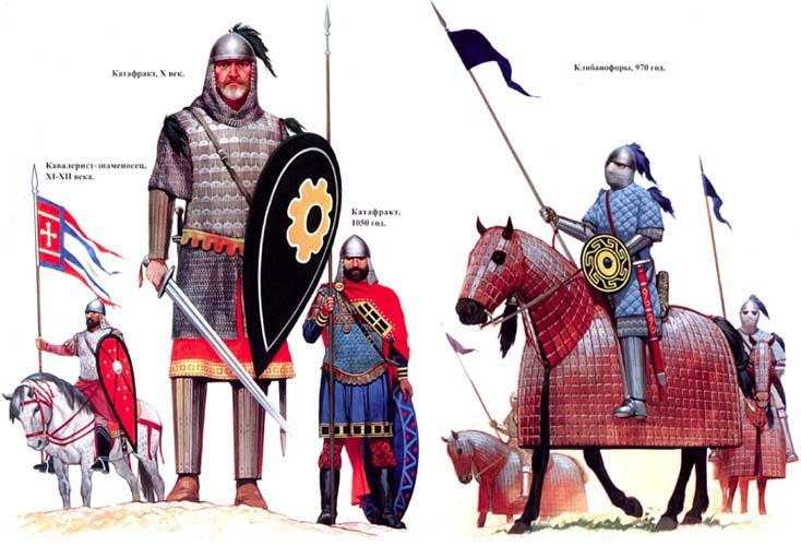 Byzantine, военная история, военное обмундирование и вооружение византийских воинов, катафракты