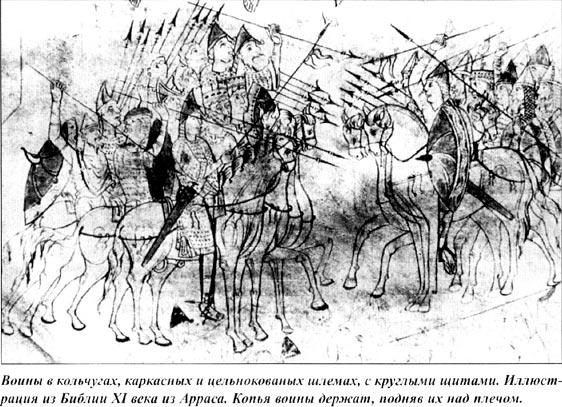 Рыцари держат копья на вытянутой руке