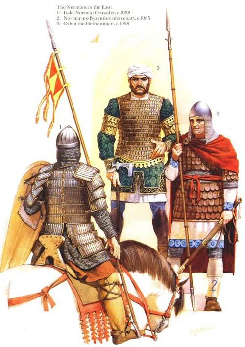 Норманны, военная история, военное обмундирование и вооружение