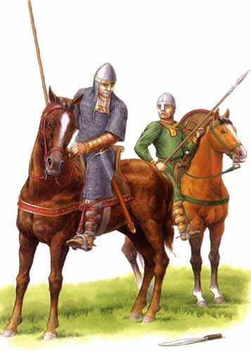 Нормандский рыцарь и оруженосец, 11 в.