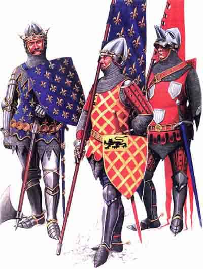 Рыцари Столетней войны в битве при Пуатье