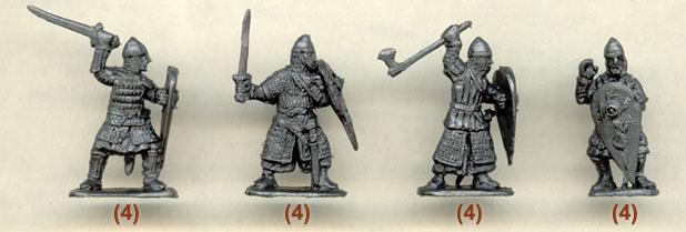 Normans infantery, фигурки солдатиков