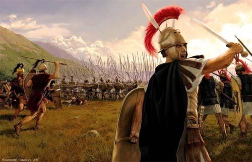 легион против фаланги, военная история