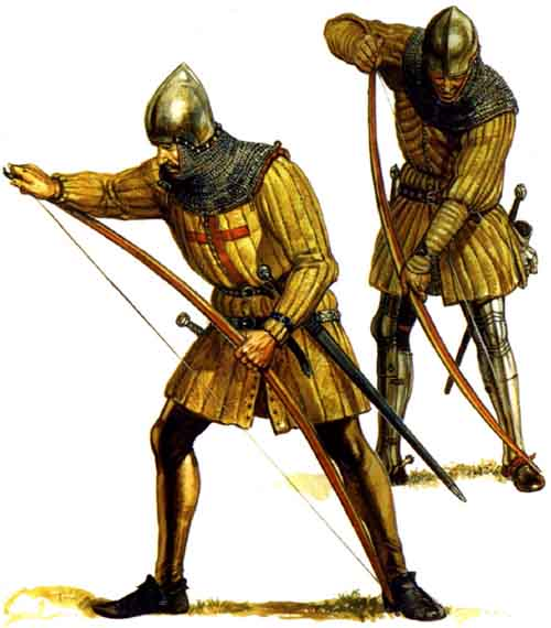 военная история, военное обмундирование и вооружение, английские лучники