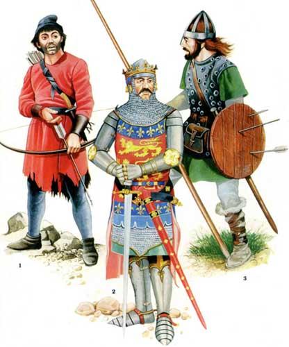 Шотландская пехота и английский рыцарь