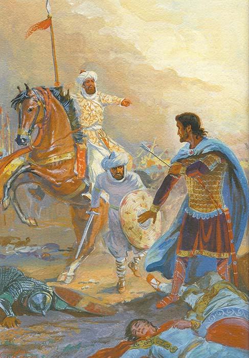 Битва под Манцикертом - пленение императора