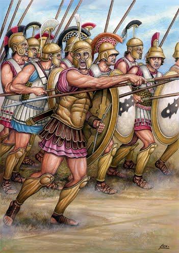 Фиванцы в битве при Левктрах