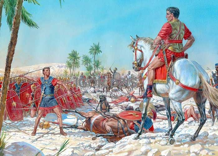 Лабиен в битве при Руспине