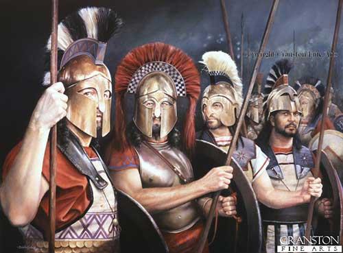 Гоплиты, середина V в. до н.э.