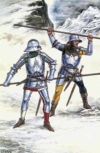 Швейцарские пикинеры первых шеренг