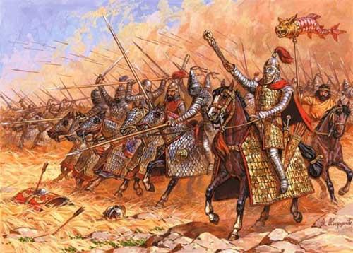 парфянские катафракты в битве при Каррах