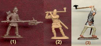 воины с бердышами (двуручными топорами)