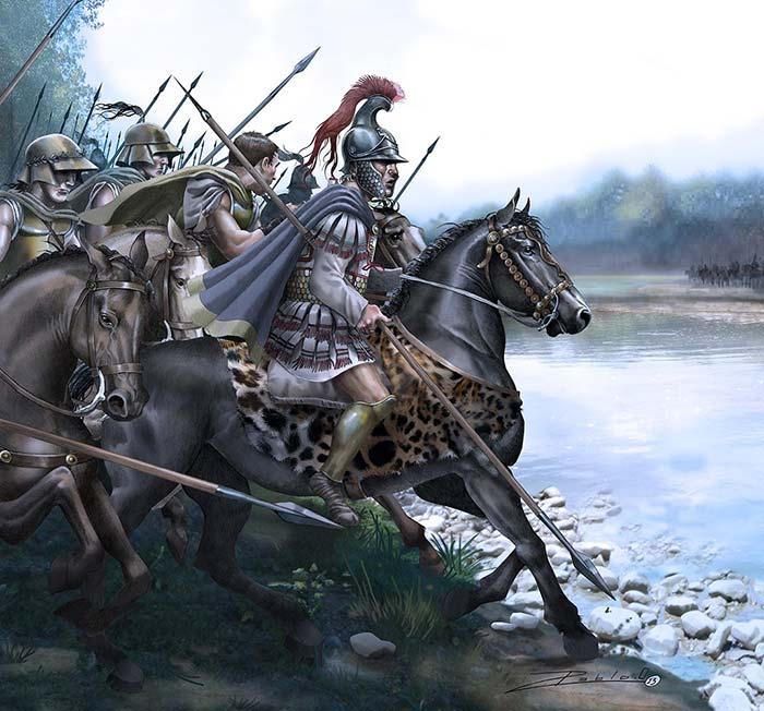Александр Македонский в битве при Гранике