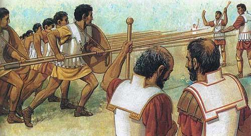Тренировка македонян