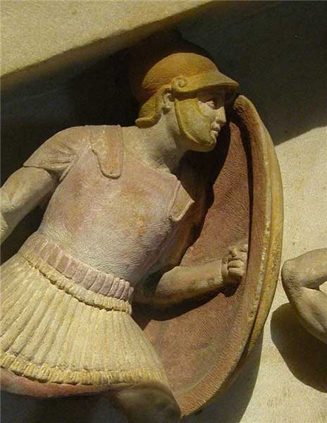 Македонский пехотинец на саркофаге Александра