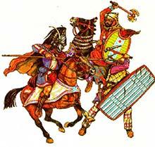 Александр Македонский в битве при Гавгамелах