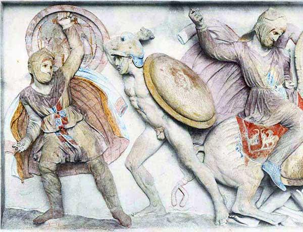 персидский бессмертный и всадник