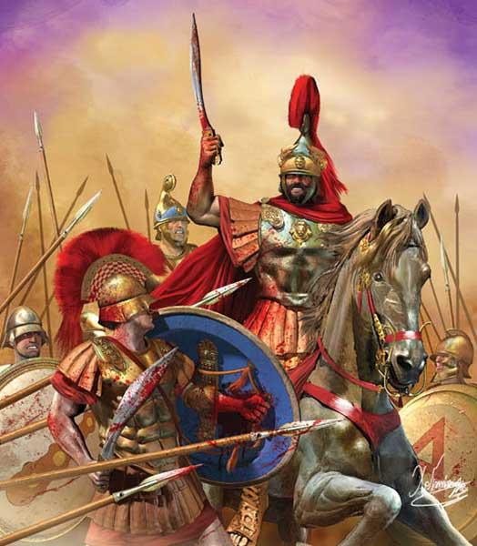 Филипп2 в битве при Херонее