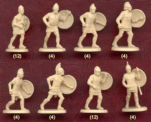 Набор солдатиков - фалангиты Александра Македонского