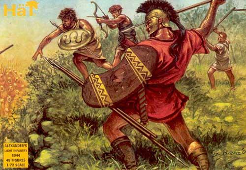 Набор солдатиков - легкая пехота Александра Македонского