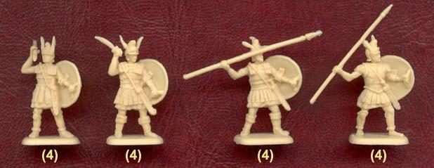 Наборы солдатиков - гипасписты Александра Македонского