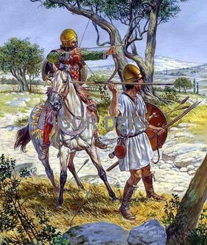 Конный лучник и пельтаст Александра Македонского