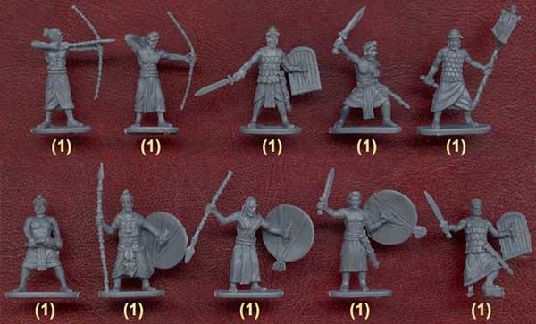 Набор солдатиков - армия царя Пора