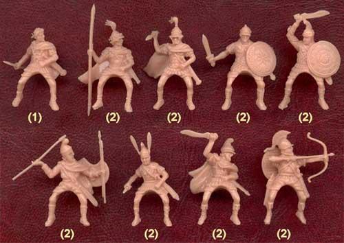 Набор солдатиков - конница Александра Македонского
