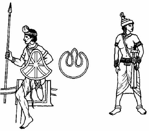 Индийский всадник и женщина телохранитель