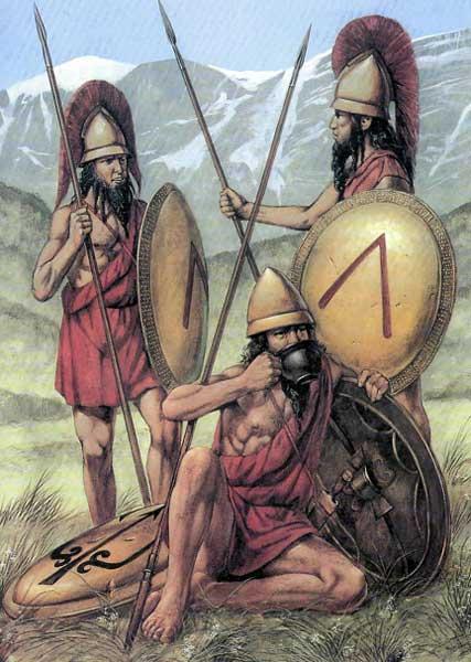 Спартанские гоплиты