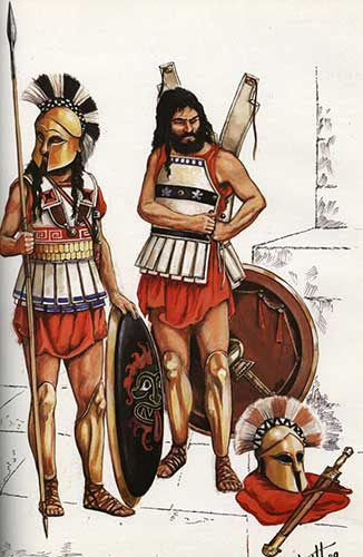 Гоплит 5 в. до н.э.