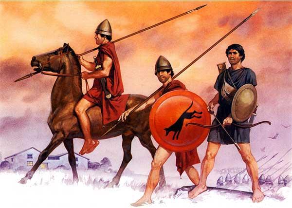 Греческие воины 4 в. до н.э.