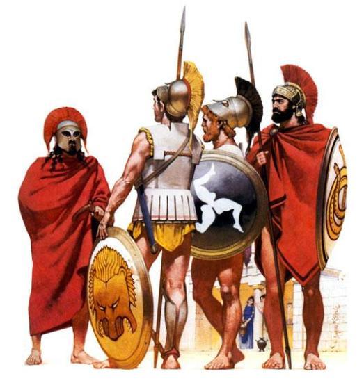 Гоплиты 5 в. до н.э.