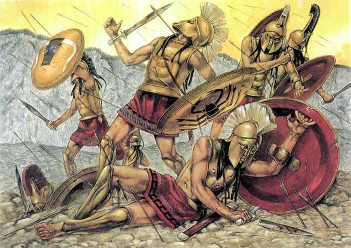 Спартанские гиппеи в битве при Фермопилах