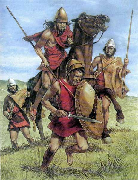 Спартанская конница и скириты в битве при Танагре