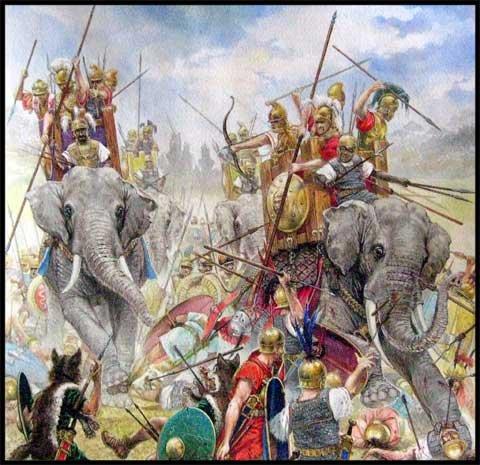 Битва при Аскуле, слоны Пирра