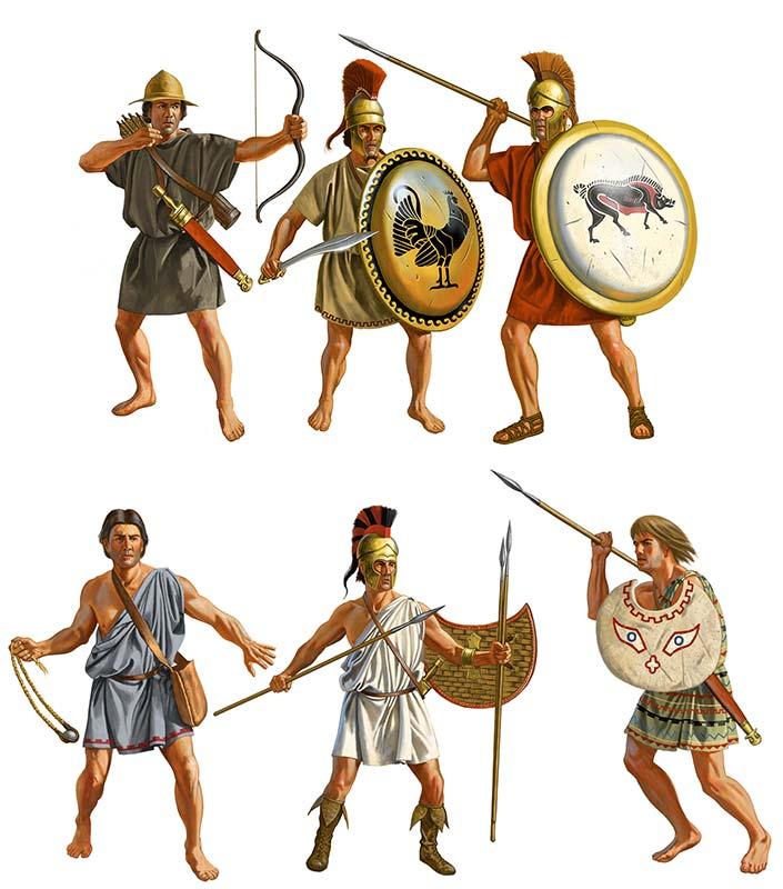 Греческая пехота конца 5 первой половины 4 в. до н.э.
