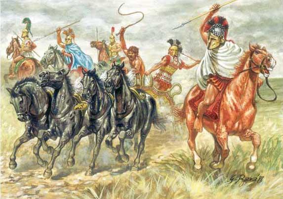 Греческие всадники 6 в. до н.э.