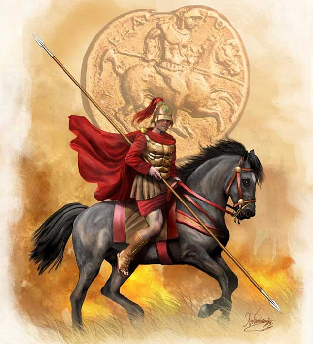 Греческий всадник середины 4 в.до н.э.