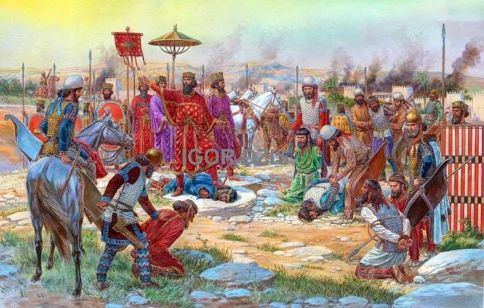 Персидский царь после победы