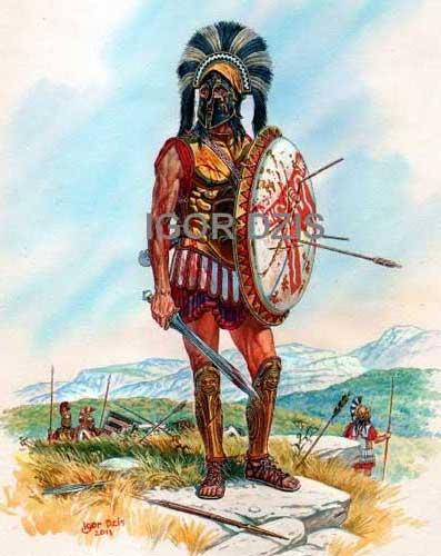 Леонид в битве при Фермопилах